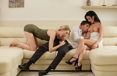 Anny Aurora and Niki in Surprise Sex For Three from X Art